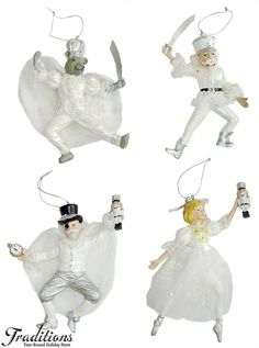 Nutcracker Suite Ornaments and Decor at Traditions Year-Round Holiday Store. Christmas Crafts For Kids, Christmas Themes, Christmas Decorations, Christmas Ornaments, Holiday Decor, Nutcracker Ornaments, Nutcracker Christmas, White Christmas, Vintage Christmas