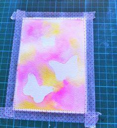 La Stanza Creativa di Lisa: Watercolor card con i distress