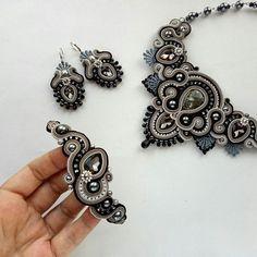 Soutache Bracelet, Soutache Jewelry, Beaded Jewelry, Shibori, Beaded Embroidery, Wearable Art, Jewelery, Jewelry Making, Brooch