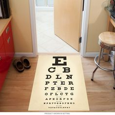 Check out the deal on Eye Chart Doctors Office Floor Graphic at Retro Planet Doctors Office Decor, Doctor Office, Office Break Room, Optometry Office, Nurses Station, Eye Chart, Floor Decal, Office Floor, Optical Shop