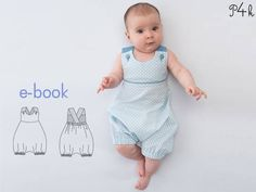"One-piece pattern, baby dungaree, kids overall, boy romper, playsuit, girl, boy, children babies toddler, Ebook ""Phil"" from Pattern4kids at Makerist"