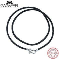 Item Type: NecklacesFine or Fashion: FashionBrand Name: gagafeelStyle: ClassicNecklace Type: Chains NecklacesCompatibility: All CompatibleMetals Type: Thai Silv 925 Silver, Silver Jewelry, Sterling Silver, Leather Necklace, Necklaces, Pendant Necklace, Chain, Beads, Fit