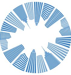City real estate logo background vector