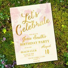 Let's Celebrate Floral Watercolor Birthday Invitation - 40th 50th 60th 70th 80th invitation - Instant Download and Edit with Adobe Reader by SunshineParties on Etsy https://www.etsy.com/listing/198939334/lets-celebrate-floral-watercolor