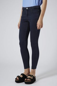MOTO Blue Black Wash Leigh Jeans