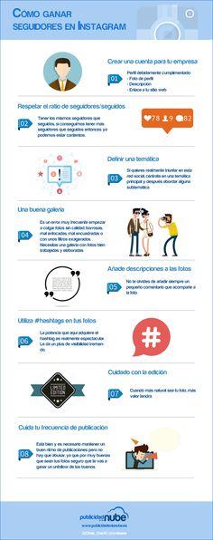 Cómo ganar seguidores Instagram #infografia