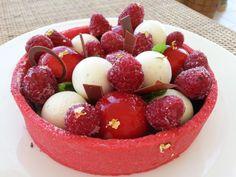 I Dolci di Pinella: Tarte rossa ai lamponi, panna, limone e vaniglia