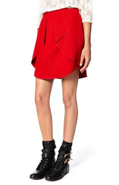 8afa0b146ded Ruffle Effect Skirt - U Adolfo Dominguez