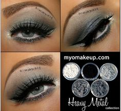 Heavy metal makeup
