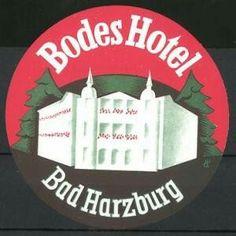 Bad Harzburg, Bodes Hotel, das Hotelgebäude Luggage Stickers