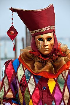 Harlequin costume fabric and mask inspiration! I have hat patterns I could do instead of this one