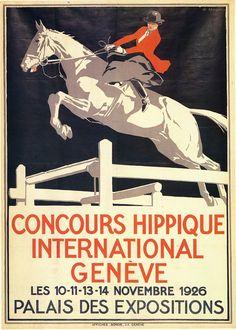 Concours Hippique International | Horse Show Poster | Equestrian, horse, pony, show