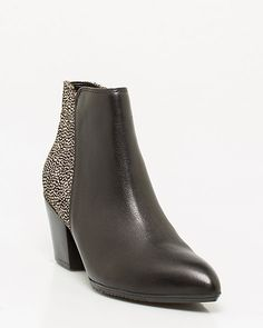 Spotted Leather Ankle Boot