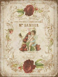quenalbertini: Janet K Design, Free vintage printable Decoupage Vintage, Vintage Diy, Vintage Labels, Vintage Ephemera, Vintage Cards, Vintage Paper, Vintage Postcards, Vintage Stuff, Victorian Valentines