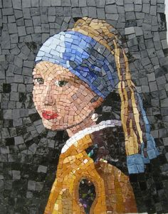 Girl with the Pearl Earring,  Completed 8/13, smalti