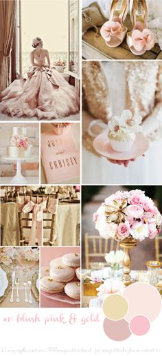 Matrimonio rosa cipria e oro. Rosy Apple Creations Inspiration Board Blush pink & gold wedding