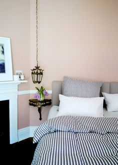 Striped Seercucker Sanders Bedding and Linen South Africa by bthings.me Stylist Misi Overturf