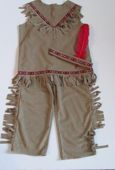 Boy's INDIAN COSTUME with Headband Native by kutekidskreations