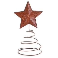 Darice Rustic Metal Star Tree Topper 15 by 8-Inch New, 1-Piece