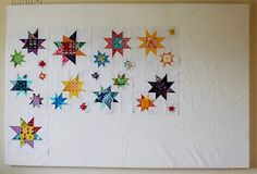 Fluffy Sheep Quilting: Winter Stitching Goals: Mid-Way Update! Star Quilt Blocks, Star Quilts, Quilting Tutorials, Quilting Designs, Quilting Ideas, Art N Craft, Sewing Rooms, Wall Design, Fun Crafts