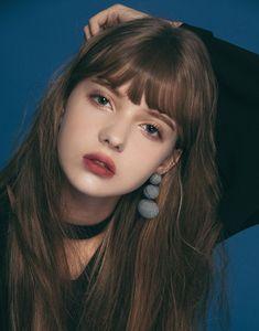 韓國格紋圓圈耳環.女裝.PAZZO