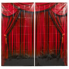Amazon.com: Fun Express Red Curtain Backdrop Banner Decoration (2 Piece): Toys & Games