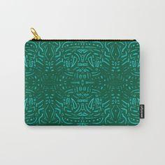 Verde abstracción Carry-All Pouch