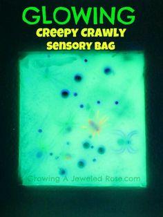 Glowing sensory bag