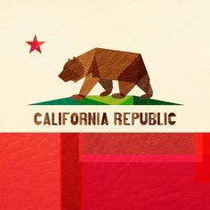 California art print by Fimbis