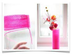 Vasen-Überzug aus Wolle