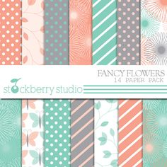 Fancy Flowers Papers