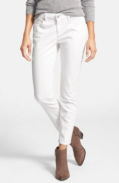 Eileen Fisher Garment Dyed Stretch Skinny Jeans (Regular & Petite) available at #Nordstrom