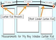 Secret to {Super Cheap} Bay Window Curtain Rods