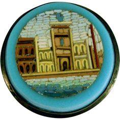 19C Micro Mosaic Brooch Venice View