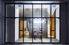 Sacai store reflects its urban surroundings. Hong Kong