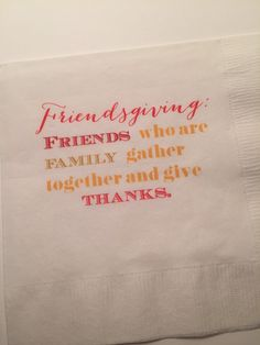 Set of 25 Thanksgiving Friendsgiving Cocktail Napkins by SparkleandSparrow on Etsy https://www.etsy.com/listing/253379857/set-of-25-thanksgiving-friendsgiving