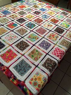 Made this last year..I call it my crochet quilt,so I'm working on one now to give to my granddaughter… Barbara Camp