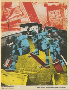 80's skateboard art: Vision