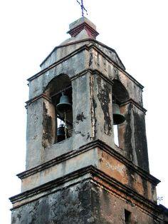 Church Bell Tower - Cuernavaca,Morelos, Mexico - by rainy city