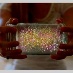 Fairies in a jar  How To Make Fairies In A Jar     This is something everyone will love! Just imagine the look on your childs face when they see this.     FAIRIES IN A JAR DIRECTIONS:   1. Cut a glow stick and shake the contents into a jar.   2. Add diamond glitter   3. Seal the top   4. Shake hard