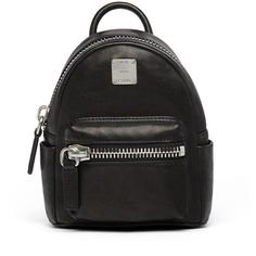 MCM Petite Tumbler Backpack In Matte Lambskin (36,470 DOP) ❤ liked on Polyvore featuring bags, backpacks, convertible backpack crossbody, mcm, mcm backpack, over the shoulder backpack and mcm fanny pack