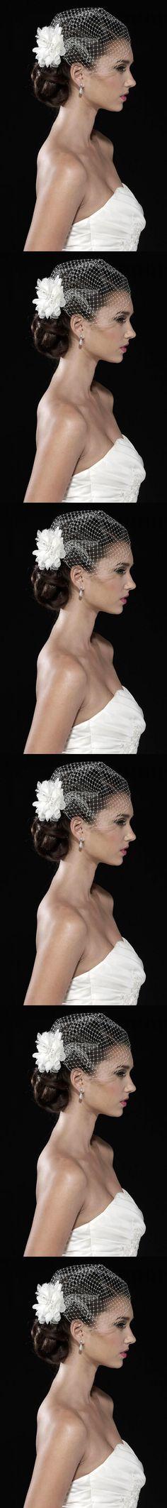 White Tulle juliet cap Bird Cage Wedding Accesories Veil Bridal Birdcage Wedding Veils Short Bridal velos de novia $13.98
