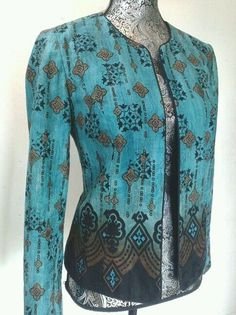 EXOTIC PRINT LIGHTWEIGHT JACKET BLAZER COLDWATER CREEK 6 OPEN FRONT BOHO CHIC #ColdwaterCreek #Blazer