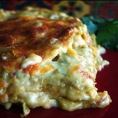Enchilada Lasagna full recipe at http://recipehub.net/enchilada-lasagna-2/