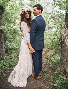 rea + danny   Rena Gown from BHLDN   via: green wedding shoes   #BHLDNbride