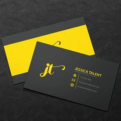 Premade Business Card Design - Print Ready - Printable Business Card - Black and…