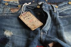 Clothing: Polo by Ralph Lauren Vintage 67 Patchwork Denim | Marcus ...
