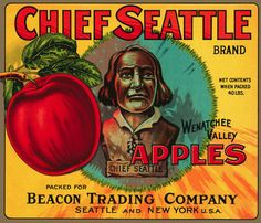 Vintage Decoration & Design Quality Poster.Chief Seattle.Room Art Decor.361