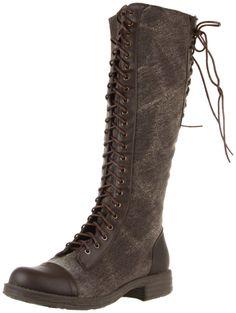 Dollhouse Europa Knee-High Boot-Chestnut Polyurethane
