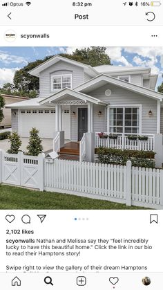 Weatherboard House, Country Modern Home, American Houses, Exterior Paint Colors For House, Bungalow House Design, Modern Farmhouse Exterior, Hamptons House, Facade House, House Front
